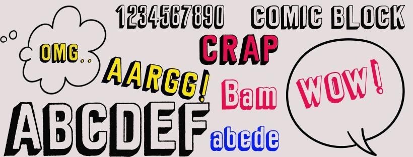 Comic 3d font preview
