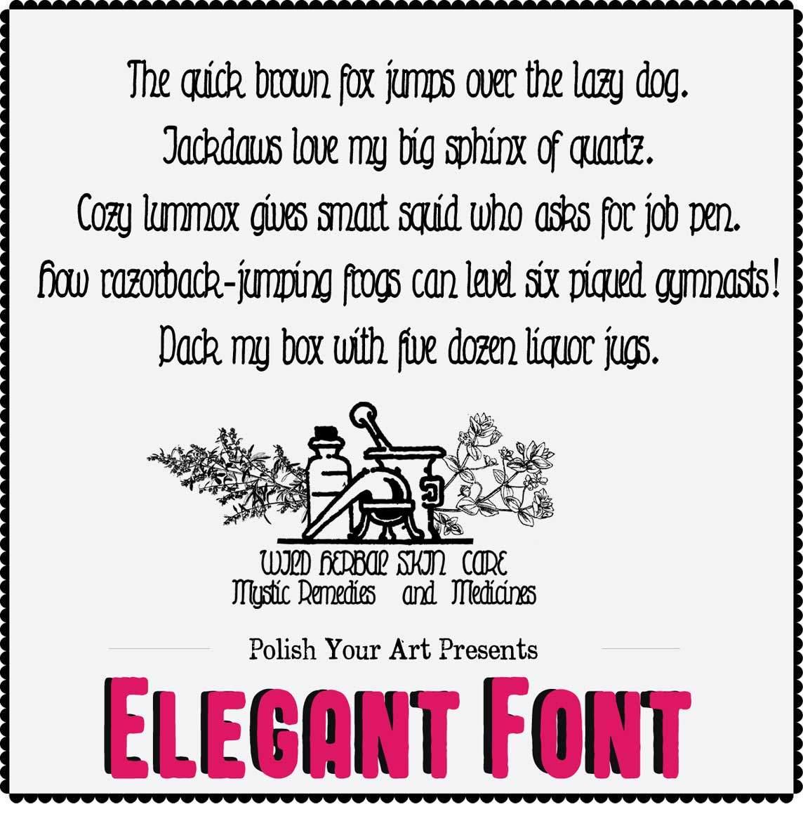 Elegant font for Commercial Use