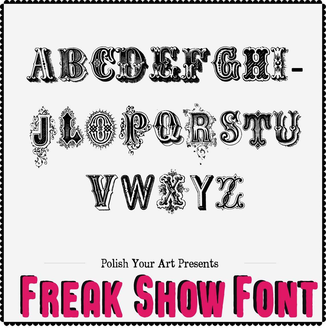 Freak Show Font Preview