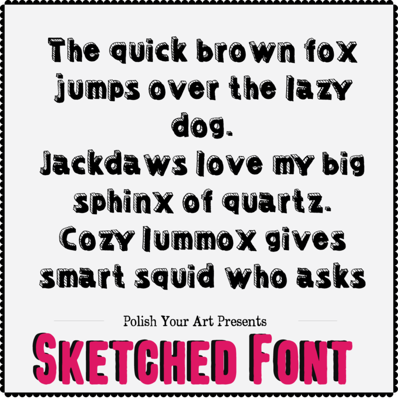 Sketched Fonts Preview