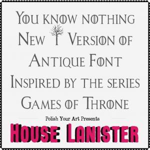 Lanister house font preview