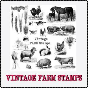 Vintage Farm Stamps Preview